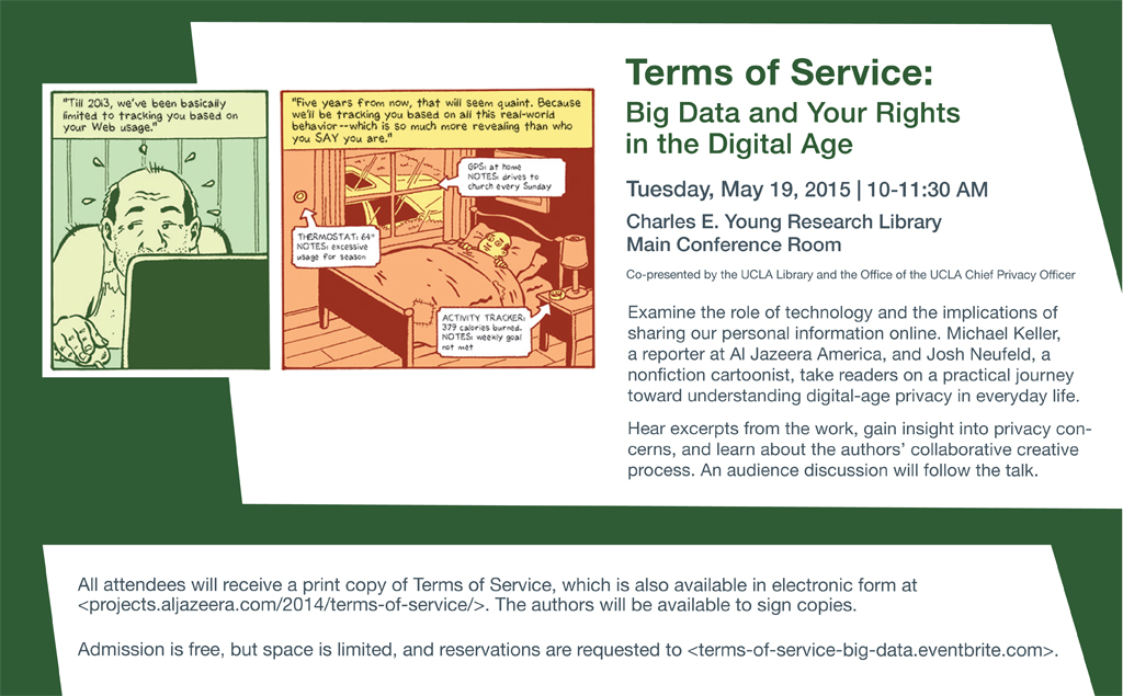 Poster for event titled: Terms of Service: Big Data and Your Rights in the Digital Age