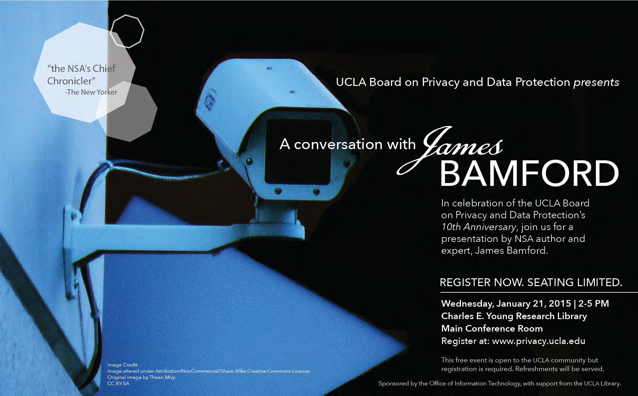 Poster for James Bamford Event